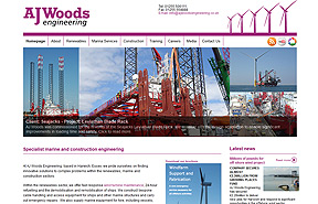 AJ Woods Engineering website