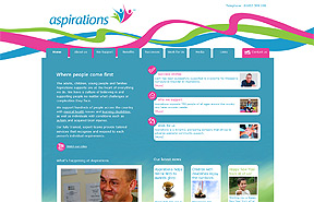 Aspirations Care website