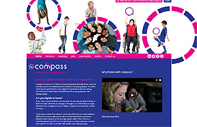 Compass Services for Children Group content managed website