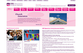 WRS Insurance content managed website